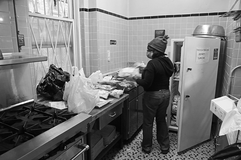 2020 : Food Lines : Seventh Day Adventists Help the Needy : Streetlife : New York City : Times Square : Richard Moore : Photographer : Photojournalist