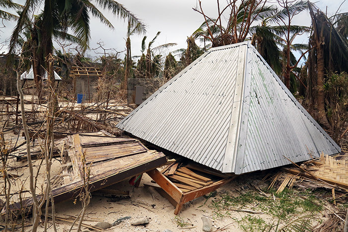 Cyclone Winston damage. Yasawa  Islands, Fiji