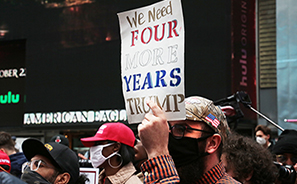 Trump Rally and Protest : Times Square : New York :  Photos : Richard Moore : Photographer