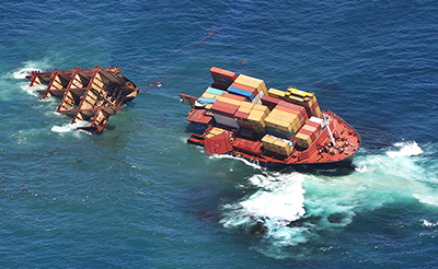 Rena Container Ship Wreck : New Zealand : Event Photos : Richard Moore : Photographer
